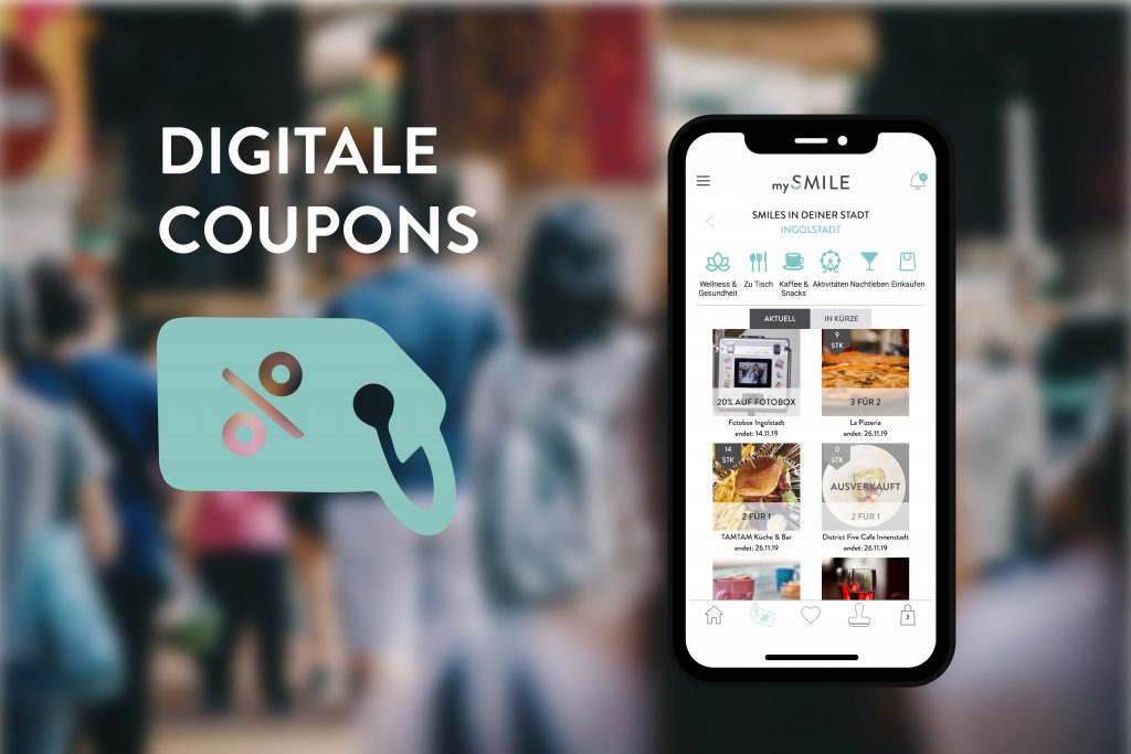 mySMILE digitale Coupons Handy