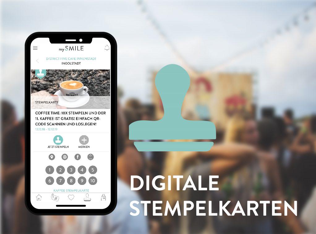 mySMILE digitale Stempelkarten